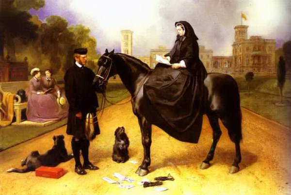 Sir Landseer Queen Victoria at Osborne house